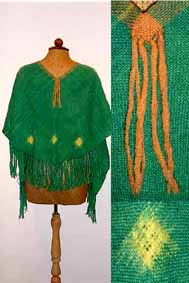 V-shaped shawl