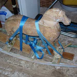 rocking horse: before